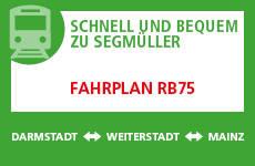 Fahrplan RB75