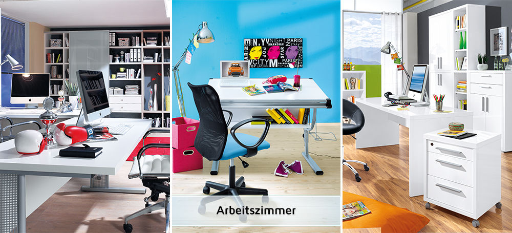 arbeitszimmer m bel megastore mitnahmemarkt. Black Bedroom Furniture Sets. Home Design Ideas